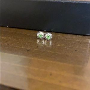 Kids Small Green Stud Earrings